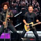 Bruce Springsteen on stage with Jake Clemons on Saxaphone during The River Tour at Croke Park. Pic Steve Humphreys 27th May 2016