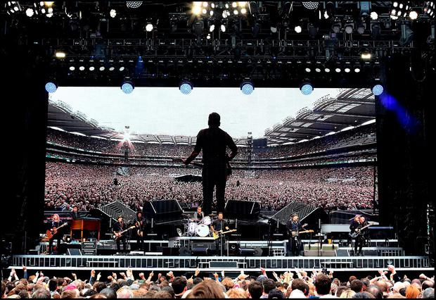 Bruce Springsteen on stage during The River Tour at Croke Park. Pic Steve Humphreys 27th May 2016