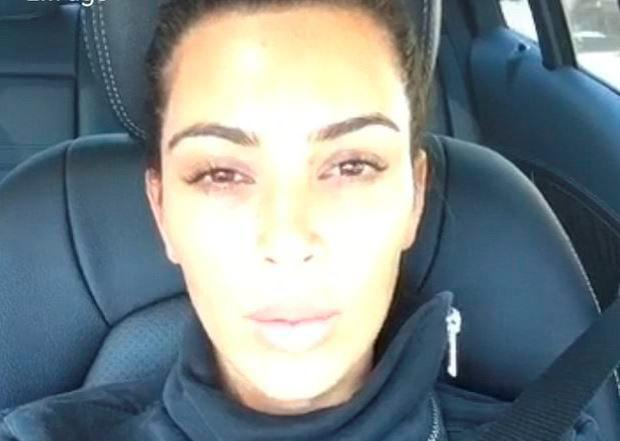 Kim Kardashian Snapchat. Pre-filter with no make-up