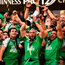 28 May 2016; Connacht captain John Muldoon lifts the trophy following his side's victory after the Guinness PRO12 Final match between Leinster and Connacht at BT Murrayfield Stadium in Edinburgh, Scotland. Photo by Stephen McCarthy/Sportsfile