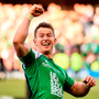 Connacht's Matt Healy, one of his side's try scorers in the victory over Leinster in yesterday's Pro 12 final at Edinburgh, celebrates at the final whistle. Photo: Stephen McCarthy