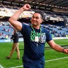 Connacht head coach Pat Lam celebrates following his side's victory in the Guinness PRO12 Final match between Leinster and Connacht at BT Murrayfield Stadium in Edinburgh, Scotland. Photo by Ramsey Cardy/Sportsfile
