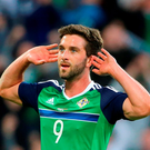 Northern Ireland's Will Grigg made the final cut. Photo: PA