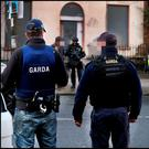 Armed gardai on patrol in Ballybough in Dublin's north inner city