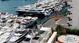 Spectators watch second practice of the Monaco Grand Prix at the Circuit de Monaco. Photo: David Davies/PA Wire.