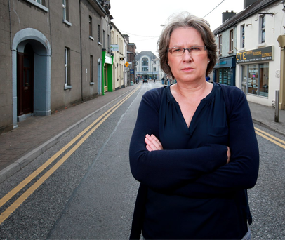 Struggle: Bernie Fagan, pictured in Mullingar, says that stress has taken its toll as a result of the battle to save her business and home after the economy imploded Photo: Frank McGrath
