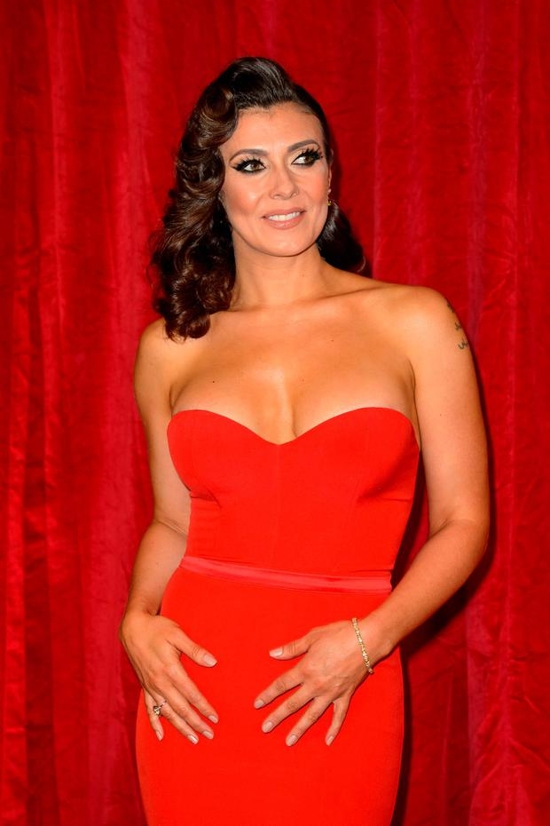 Kym Marsh attending the British Soap Awards 2016 at the Hackney Empire, 291 Mare St, London. Photo: Matt Crossick/PA Wire