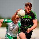 29 May 2016; Aidan O'Shea of Mayo in action against Philip Butler of London during the Connacht GAA Football Senior Championship quarter-final between London and Mayo in Páirc Smárgaid, Ruislip, London, England. Photo by Seb Daly/Sportsfile