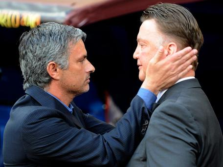 Mourinho and Van Gaal were thought to be friends off-the-pitch. Getty