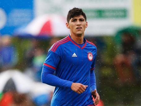 Alan Pulido of Olympiacos in action during pre season in July 2015. Getty Images