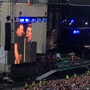 Bono and Springsteen onstage together. Photo: Alison Cowzer