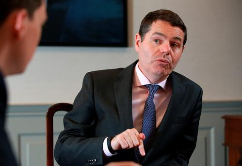 Minister for Public Expenditure and Reform Paschal Donohoe in his office in Dublin Photo: Frank McGrath