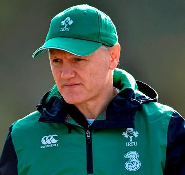Ireland head coach Joe Schmidt during squad training. Photo: Matt Browne/Sportsfile