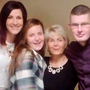 Crash victim Jillian Thornton (centre) with (from left) her father Derek, her sister Elaine, her mother Lorraine and her brother Derek