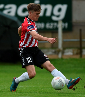 Derry City's Joshua Daniels in action. Photo: Oliver McVeigh/Sportsfile