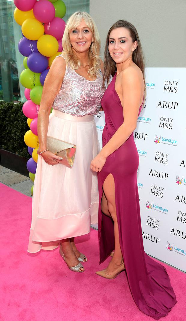 Miriam O'Callaghan and daughter Jessica McGurk at the LauraLynn Heroes Ball at the Mansion House Dublin. Picture: Brian McEvoy