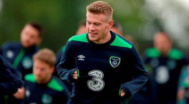James McClean of Republic of Ireland during squad training in the National Sports Campus, Abbotstown, Dublin. Photo by Seb Daly/Sportsfile