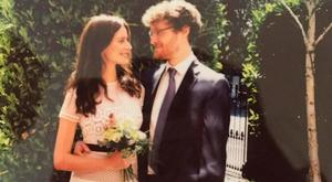 Model Faye Dinsmore weds Paddy Cosgrave. Picture: Facebook