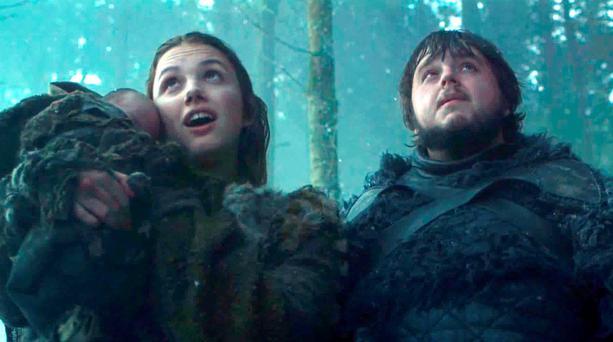 Sam and Gilly in Game of Thrones