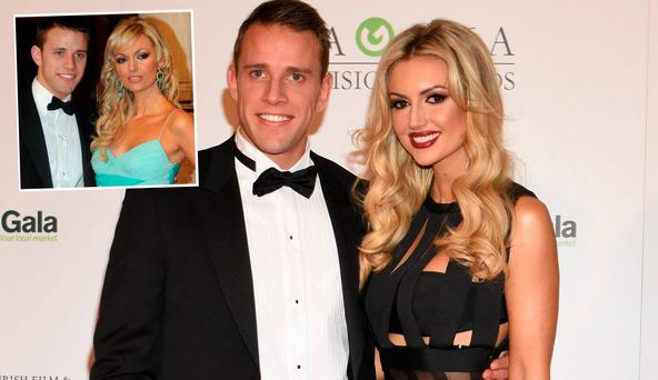 Wesley Quirke and Rosanna Davison in 2016 and, inset, in 2007
