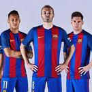 Barcelona released their new home kit today (Picture courtesy of fcbarcelona.com)