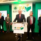 IFA Deputy President Richard Kennedy speaking following his election earlier this year. Photo: Finbarr O'Rourke.
