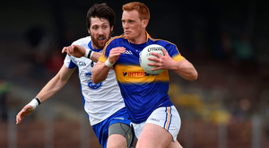 Tipperary's George Hannigan takes on Tommy Prendergast on Sunday. Photo: Matt Browne/Sportsfile