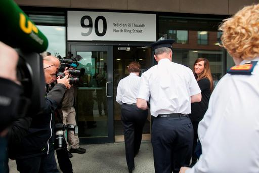 Garda Commisioner Noirin O' Sullivan arrives at the The Policing Authority on King Street North Dublin. Photo: Gareth Chaney Collins