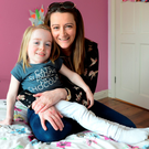 Nine-year-old Grace Cogan with her mum Grainne. Picture: Ciara Wilkinson