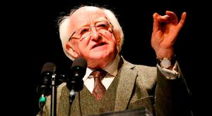 President Michael D Higgins. Photo: Maxwell