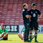 Martin O'Neill and Roy Keane at Turner's Cross yesterday Photo: David Maher/Sportsfile