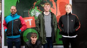 Sam Greenwood, Jake Dodd, Craig Connolly and Eric Davidson who are opening a pop-up venue called Fanfair