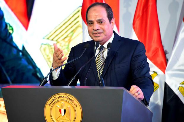 Egypt's president leaves Cairo for Washington to meet Trump