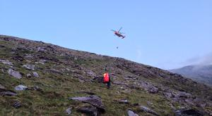 A man in his 50s was rescued after a fall while descending Cnoc na Toinne. Photo: KMRT