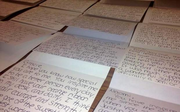 Teacher shocked by students suicide attempt writes personal letters the letters teacher brittni darras wrote to her students pic brittni darras facebook expocarfo Image collections