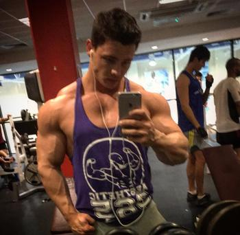 Mark Higgins is a competitive power-bodybuilder