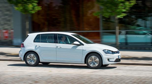 Dramatic boost: e-Golf.
