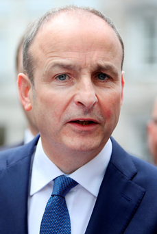 Micheal Martin spoke in the Dáil today. Photo: Gerry Mooney