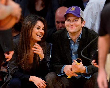Mila Kunis and husband Aston Kutcher