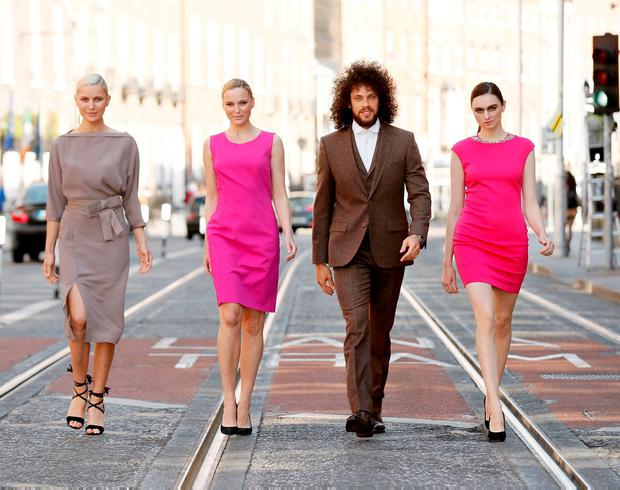 Models Teo, Sarah, Maria and Karl in clothes from Reiss, Brown Thomas, Magee and Ted Baker. Photo: Kieran Harnett