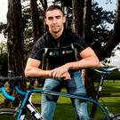 Dublin's James McCarthy promoting the 'Get Breathless for COPD' charity cycle. Photo: ©INPHO/James Crombie
