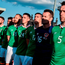 Ireland captain Richard Keogh and team-mates prior during the friendly with Belarus