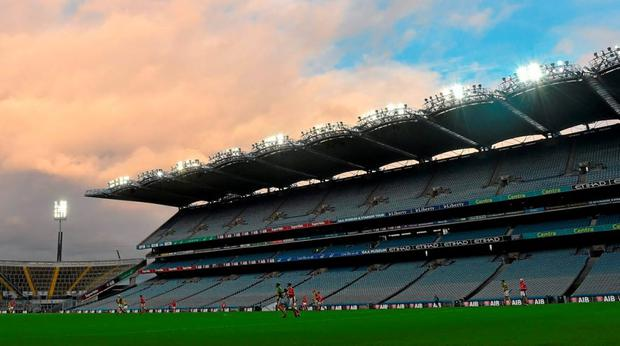 Croke Park will host hurling's Tier 2, 3 and 4 finals on Saturday in the Lory Meagher (Louth v Sligo), Nicky Rackard (Armagh v Mayo) and Christy Ring (Antrim v Meath) Cup finals, spread across the day in two-hourly intervals from 1.30 (Photo: Cody Glenn / Sportsfile)