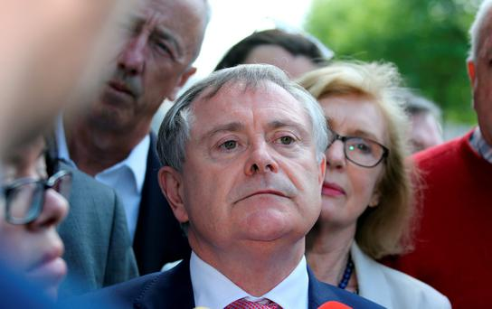 Asked if the meeting influenced his statement of confidence in Mr Callinan at the time, Mr Howlin replied: 'Yes it would.' Photo: Tom Burke