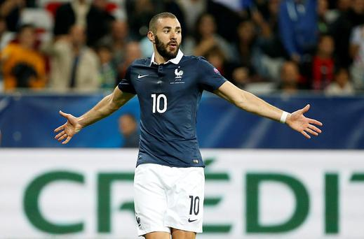 Benzema was suspended by the French federation in December after he was caught up in a scandal involving a sex tape. Photo: Getty Images
