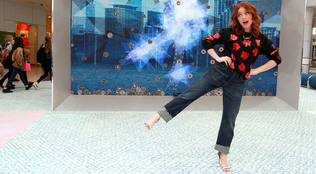 Angela Scanlon in high heels