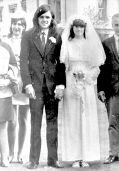 Desmond Reilly (left) on his wedding day, who died in the Birmingham pub bombings Credit: Family Handout/PA Wire