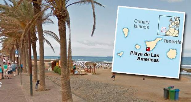 Incident reportedly took place at Playa de Las Americas (Stock photo)