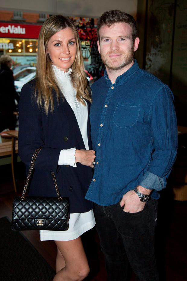 Gordon D'Arcy and Aoife Cogan at the launch of #ExchequerEvolution at The Exchequer, Ranelagh