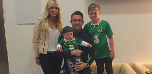 Claudine and Robbie Keane with their sons Robert Jr and Hudson